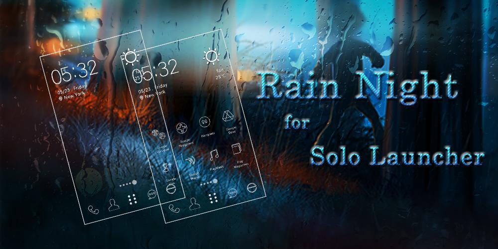 Rain Night Icons & Wallpapers - screenshot