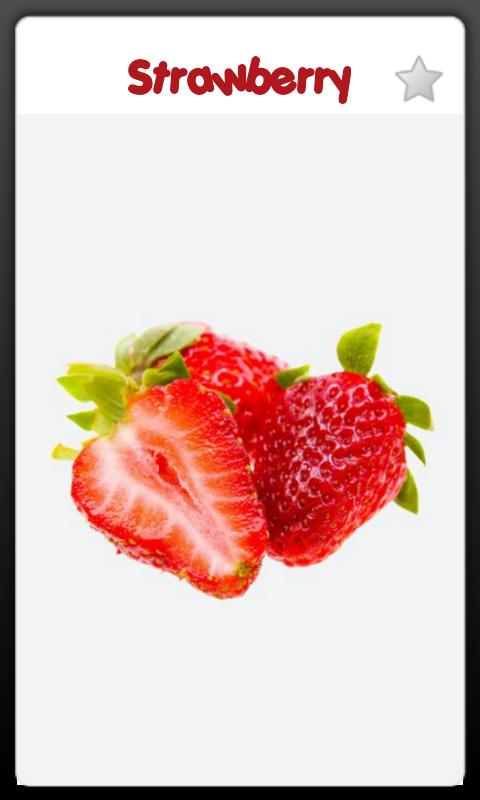Baby Learning Card - Fruit - screenshot