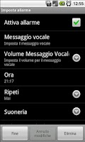 Screenshot of Talking Alarm Clock