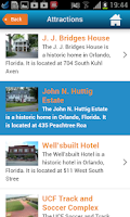 Screenshot of Orlando guide, map & hotels