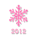 Magical Pink Christmas GO SMS icon