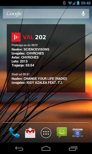 Val202 - predvaja se