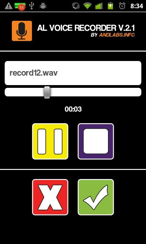 AL Voice Recorder - screenshot