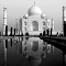 Taj Reflection_B&W.jpg