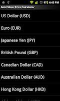 Screenshot of Gold Silver Price Calculator