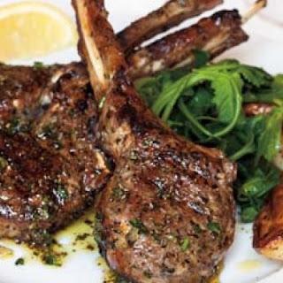 Grilled Lamb Chops with Kokkari Dressing.