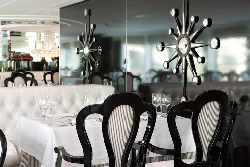 Watch the passing landscapes of Europe while dining on Uniworld's River Princess cruise ship.