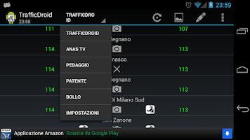 Screenshot of TrafficDroid