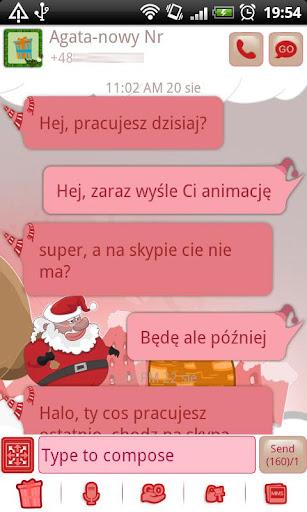 GO SMS Pro Santa Claus Theme