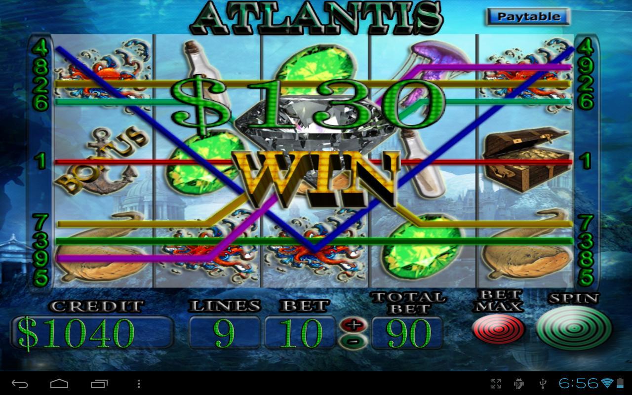 atlantis 100 hand poker machines