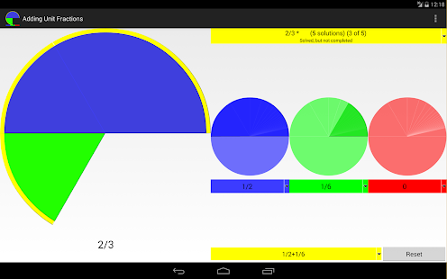 Adding unit fractions- screenshot thumbnail