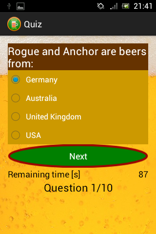 Beer Quiz - English version