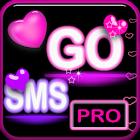 Pink Neon Heart Theme 4 GO SMS icon