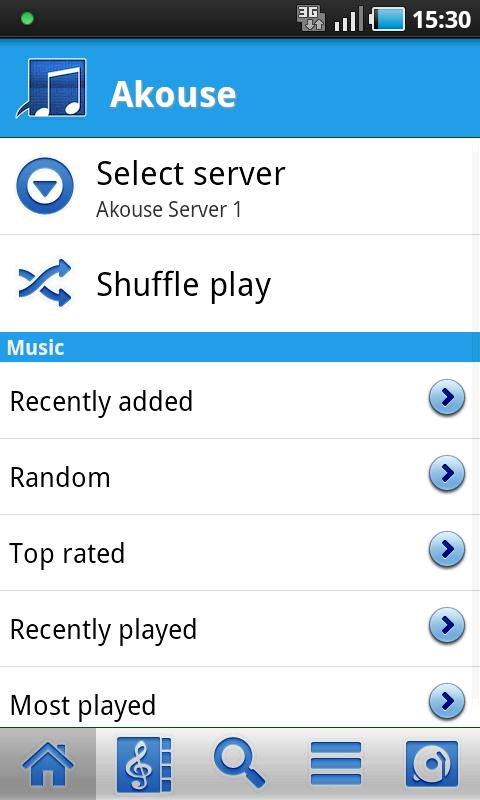 Akouse Cloud Player - screenshot