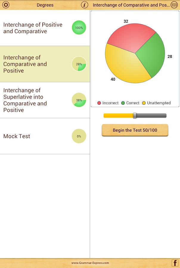 Grammar Express : Degrees - screenshot
