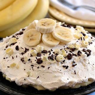 White Chocolate Banana Cream Pie