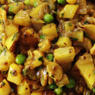 Perfect Potato and Pea Coconut Curry.