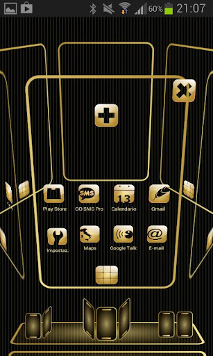 NEXT Launcher My Gold Theme