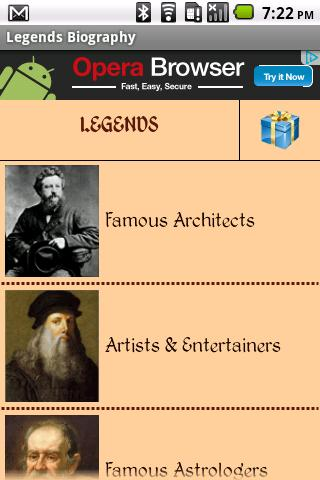 Legends Biography - screenshot
