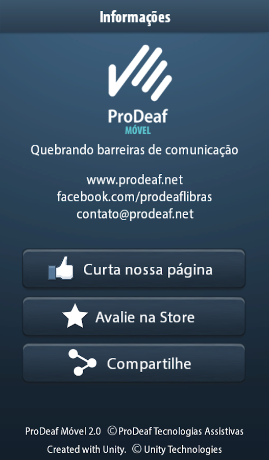 ProDeaf Libras Translator - screenshot