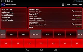 Screenshot of Heat Synthesizer Pro BETA