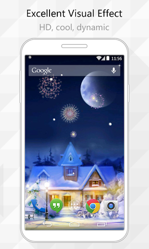 Snow Town Live Wallpaper