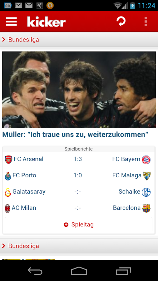 kicker online - screenshot