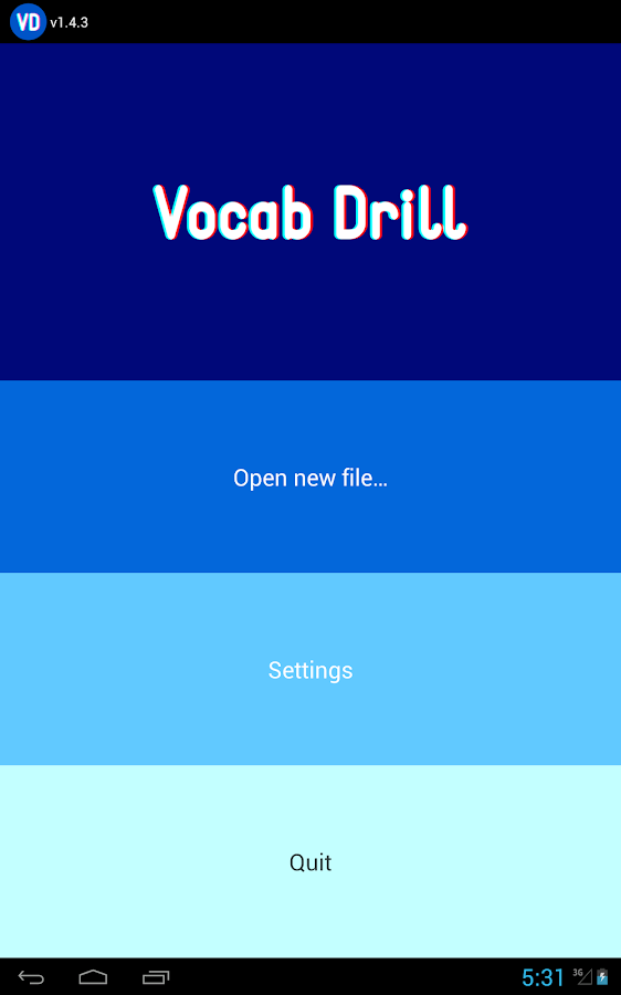 Vocab Drill - screenshot