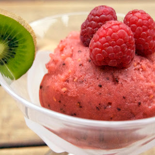Kiwi-Raspberry Sorbet
