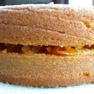 Pumpkin Jam and Walnut Filled Cake