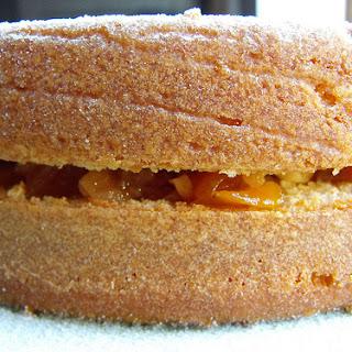 Pumpkin Jam and Walnut Filled Cake.