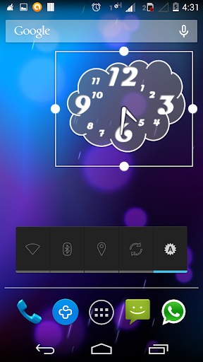Artistic clock - Cloud clock