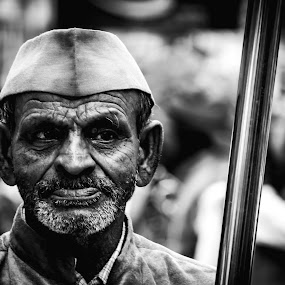 Monochrome by Neel Gengje - Black & White Portraits & People ( wrinkles, awesome, age, white, black )