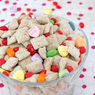 Cinnamon White Chocolate Valentine's Day Puppy Chow.