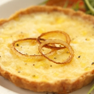 Cheese and Onion Quiche.