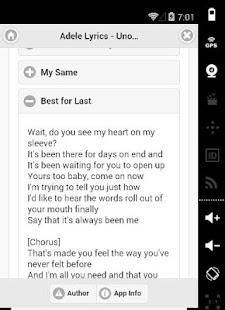 Adele All Lyrics - Unofficial screenshot