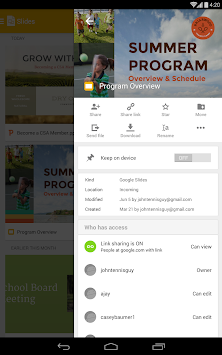 Google Slides APK screenshot thumbnail 7