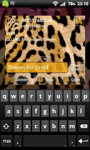 Leopard Theme for GO SMS Pro- screenshot thumbnail