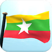 Myanmar Flag 3D Free Wallpaper