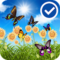 Cute Sunflower Butterfly LWP icon