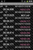 Screenshot of GPS Laps