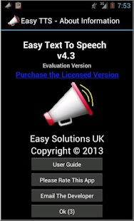 Easy Text To Speech - screenshot thumbnail