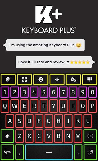 霓虹色键盘