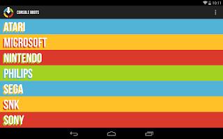 Screenshot of Console Boot Soundboard