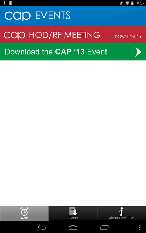 CAPevents - screenshot