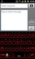 Screenshot of Red Glow Keyboard Skin Pro