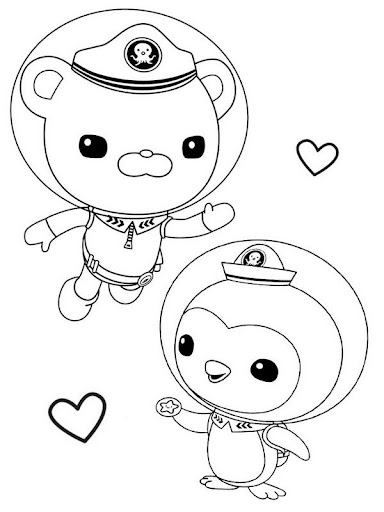 Octonauts Cartoon Coloring