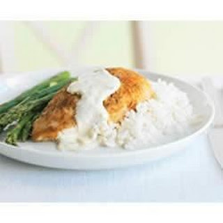 Parmesan-Crusted Chicken in PHILLY Cream Sauce.