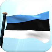 Estonia Flag 3D Free Wallpaper