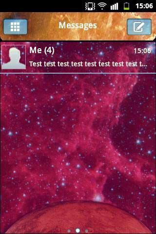 GO SMS PRO Theme Galaxy Buy